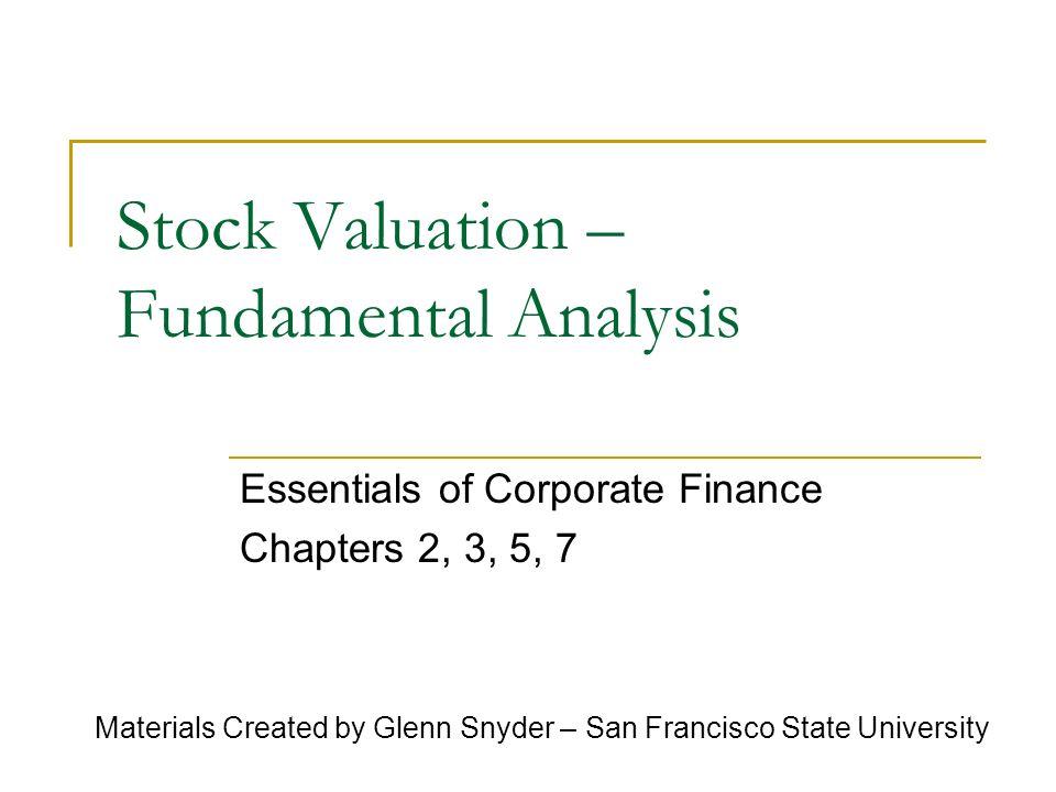 Stock Valuation – Fundamental Analysis