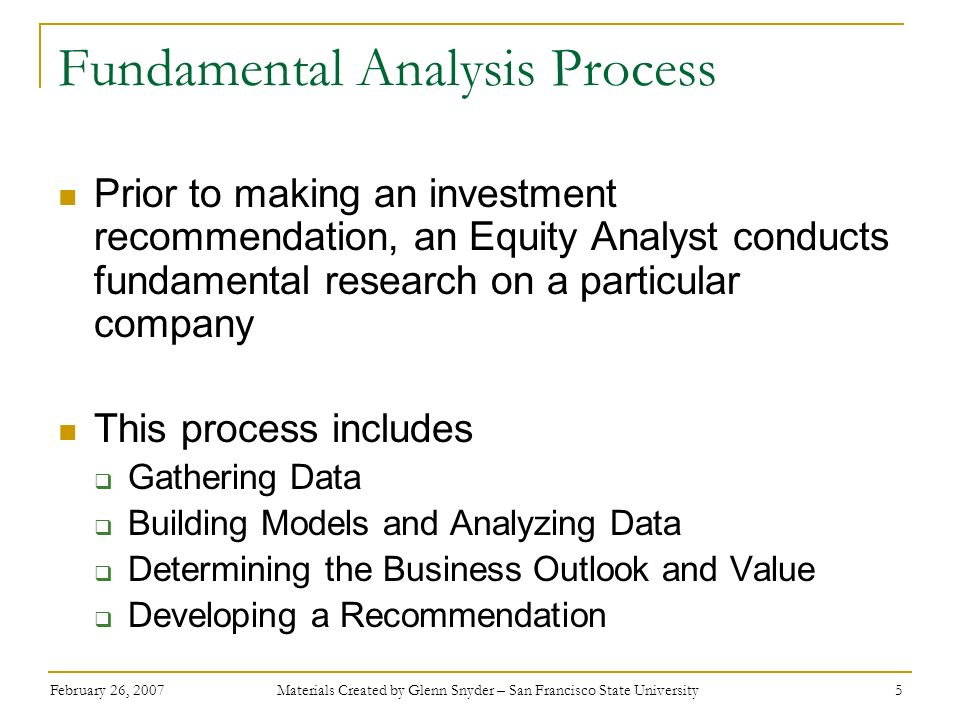 Fundamental Analysis Process