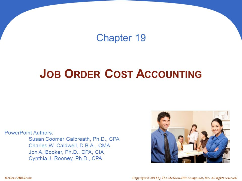 Job Order Cost Accounting