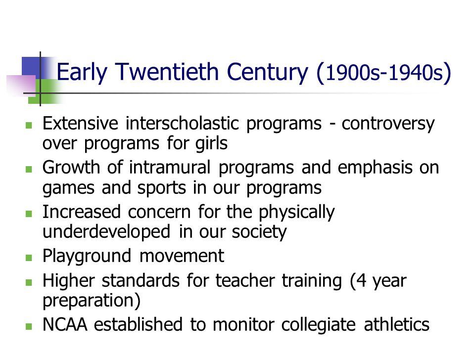 Early Twentieth Century (1900s-1940s)