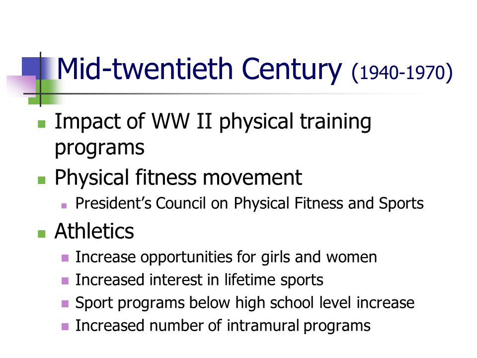 Mid-twentieth Century (1940-1970)