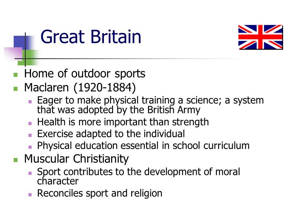 Great Britain Home of outdoor sports Maclaren (1920-1884)