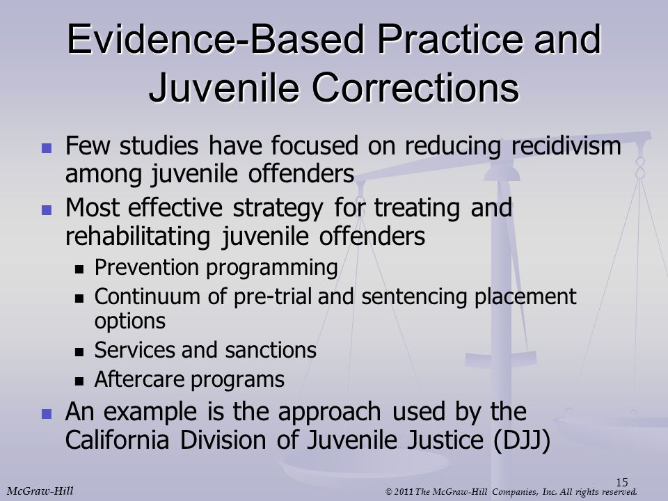 Evidence-Based Practice and Juvenile Corrections