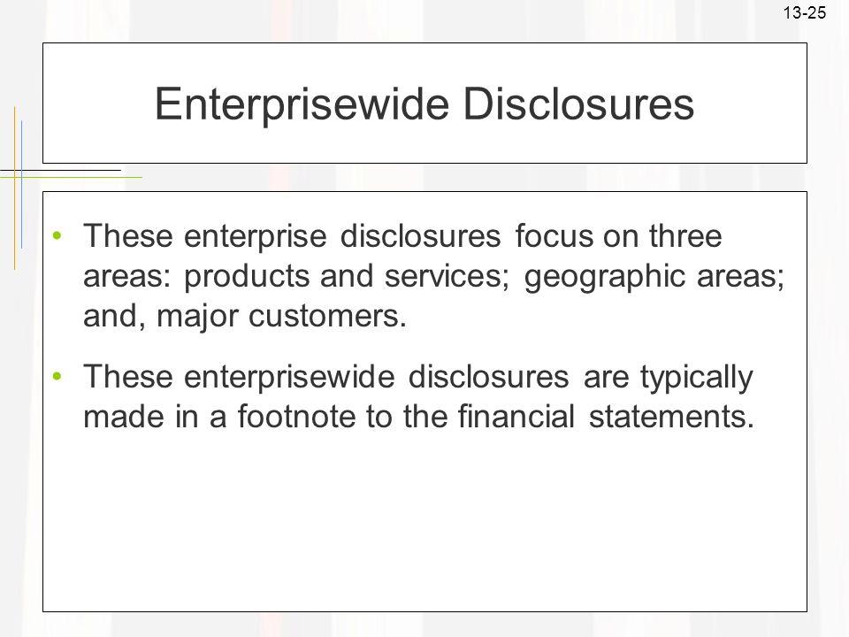 Enterprisewide Disclosures