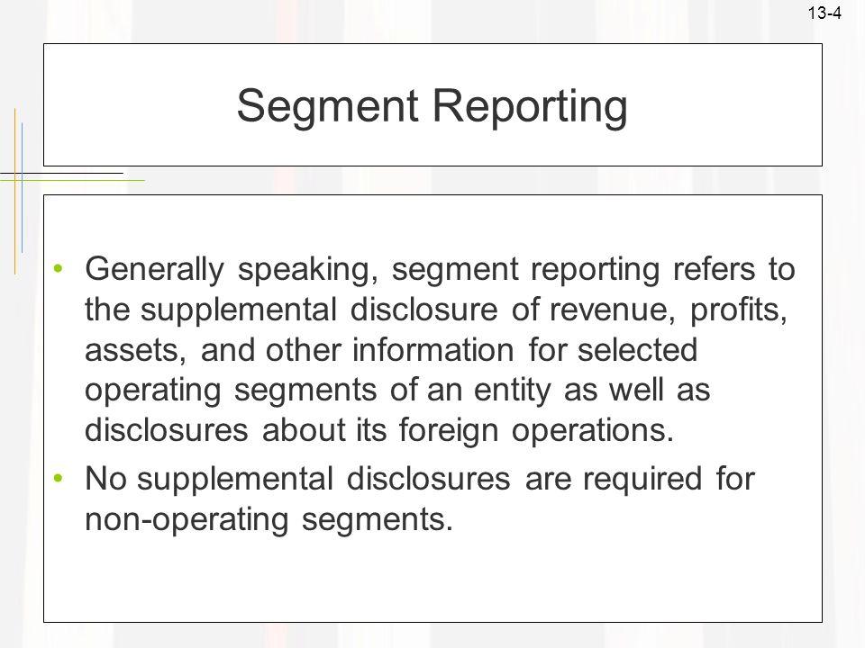 Segment Reporting