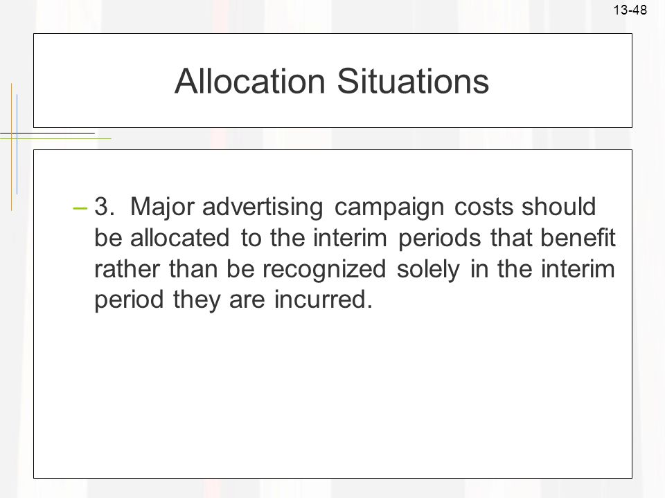 Allocation Situations