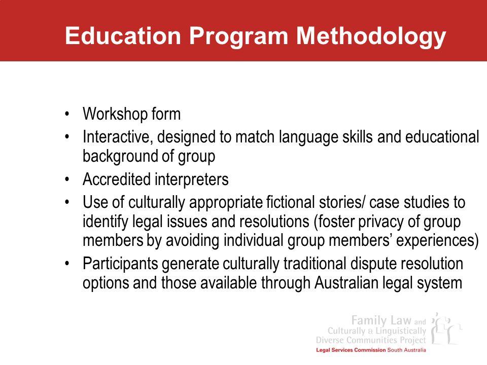 Education Program Methodology