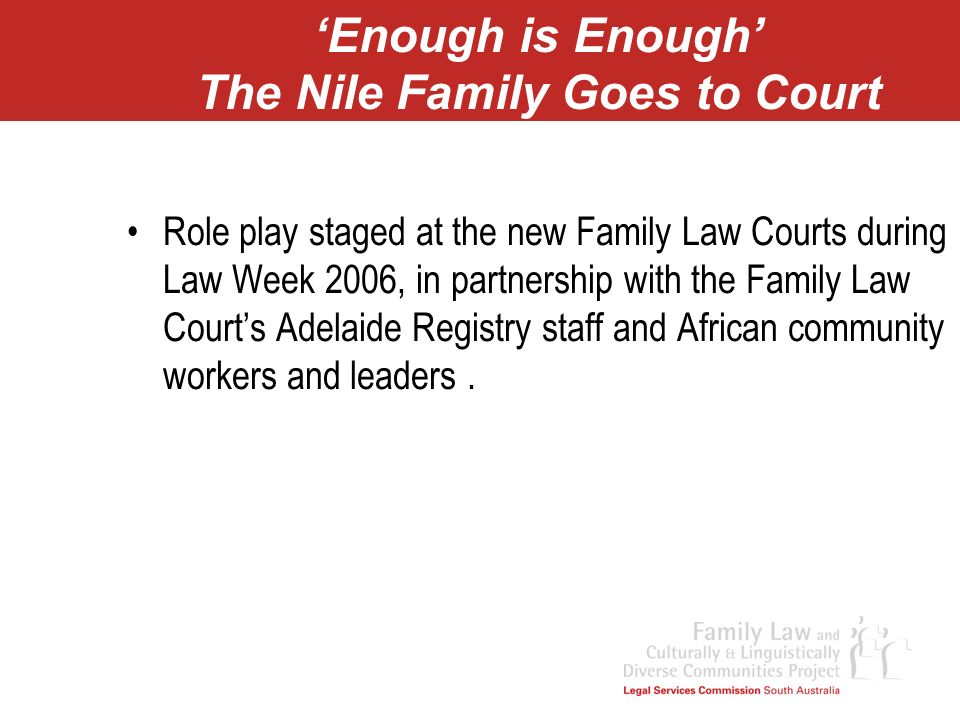 'Enough is Enough' The Nile Family Goes to Court