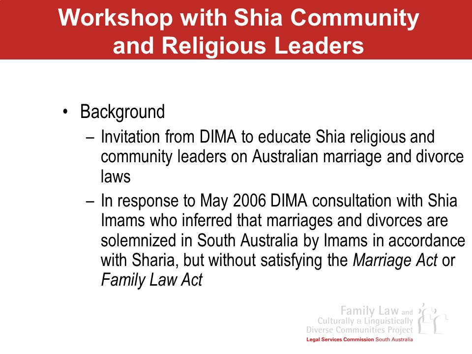 Workshop with Shia Community and Religious Leaders