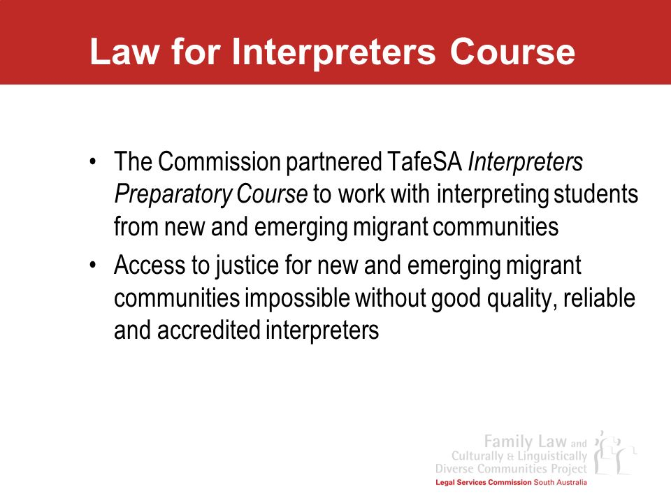 Law for Interpreters Course