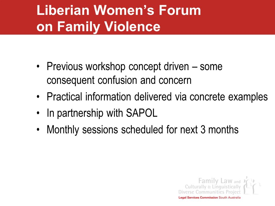 Liberian Women's Forum on Family Violence