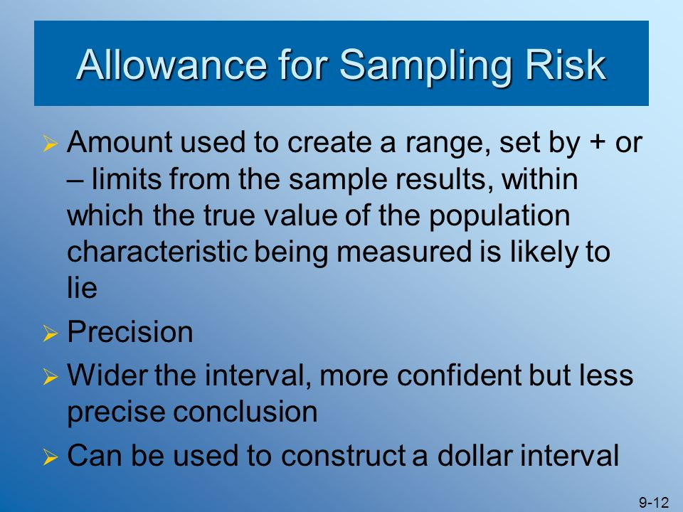 Allowance for Sampling Risk