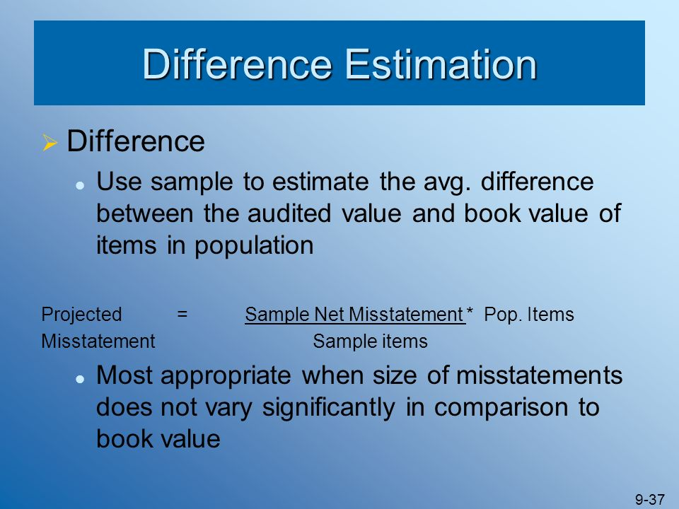 Difference Estimation