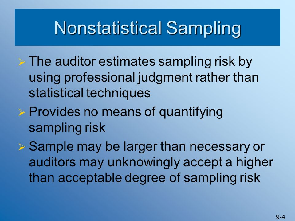 Nonstatistical Sampling