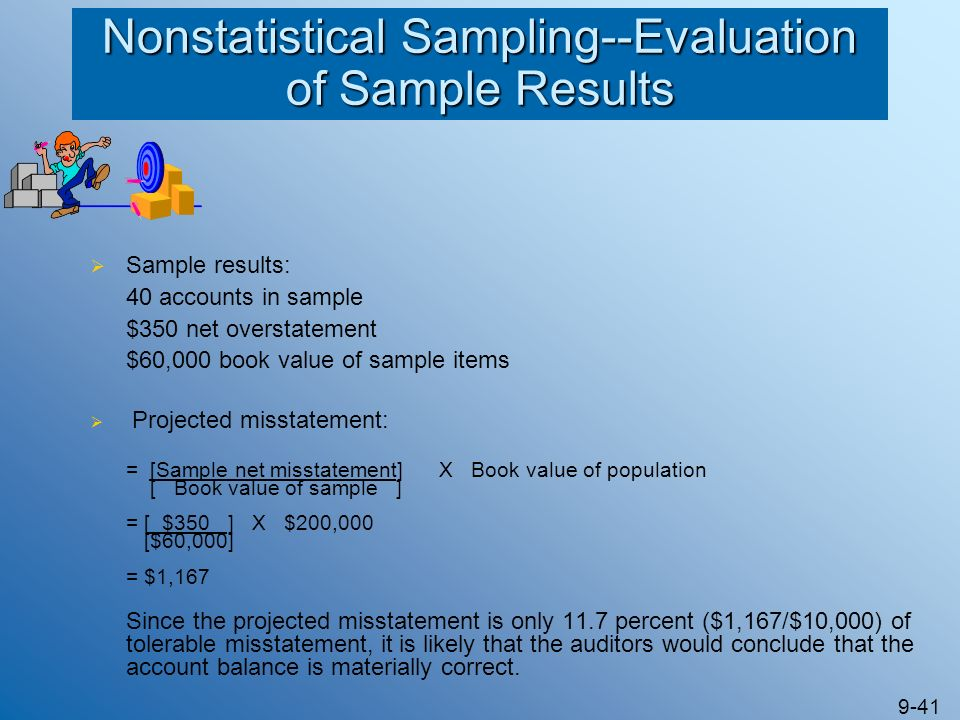 Nonstatistical Sampling--Evaluation of Sample Results
