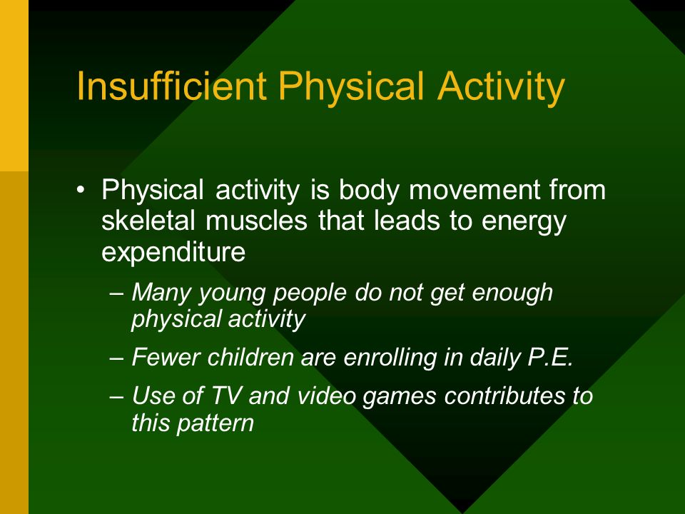 Insufficient Physical Activity