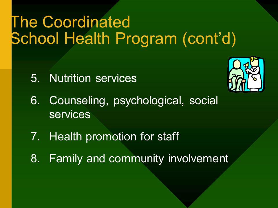 The Coordinated School Health Program (cont'd)