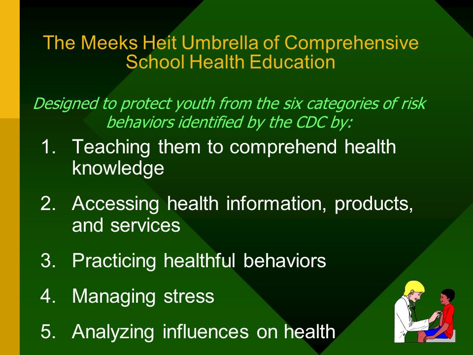 The Meeks Heit Umbrella of Comprehensive School Health Education