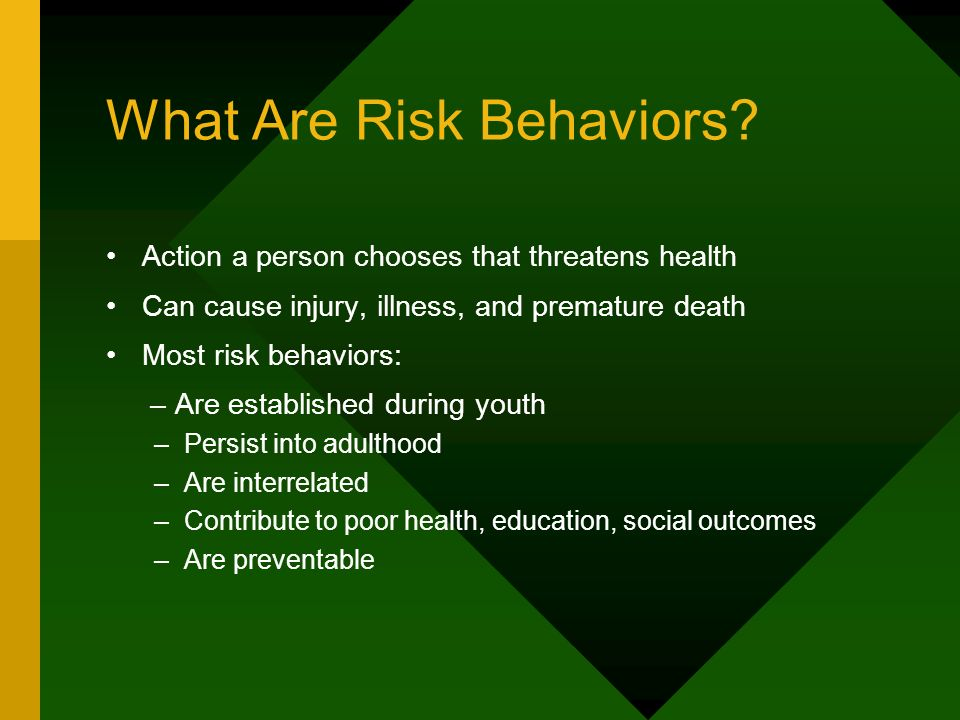 What Are Risk Behaviors