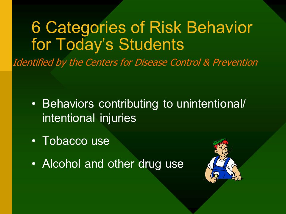 6 Categories of Risk Behavior for Today's Students