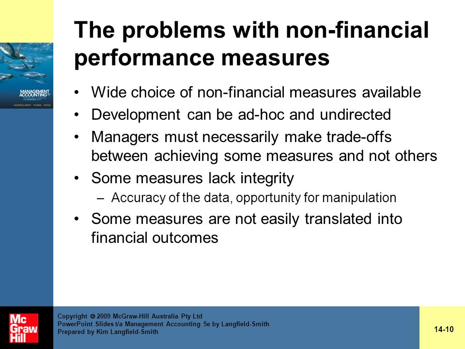 The problems with non-financial performance measures