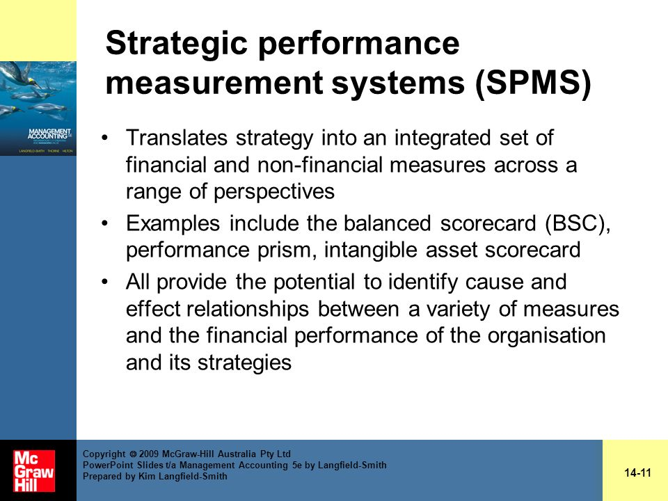 Strategic performance measurement systems (SPMS)