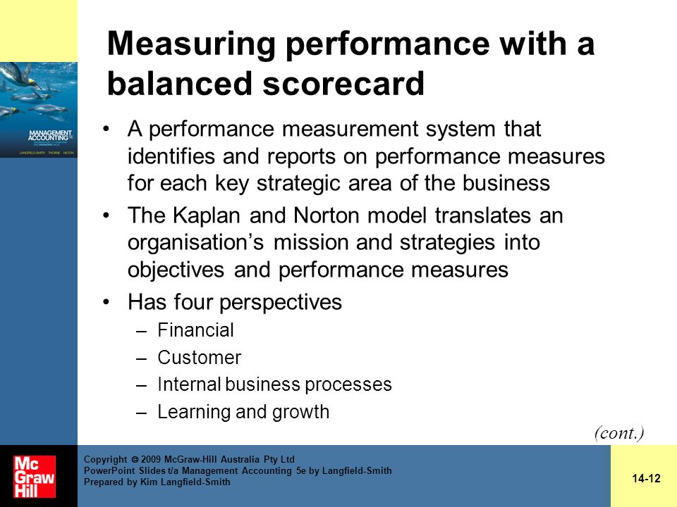 Measuring performance with a balanced scorecard