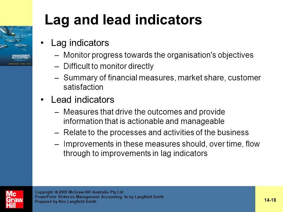 Lag and lead indicators
