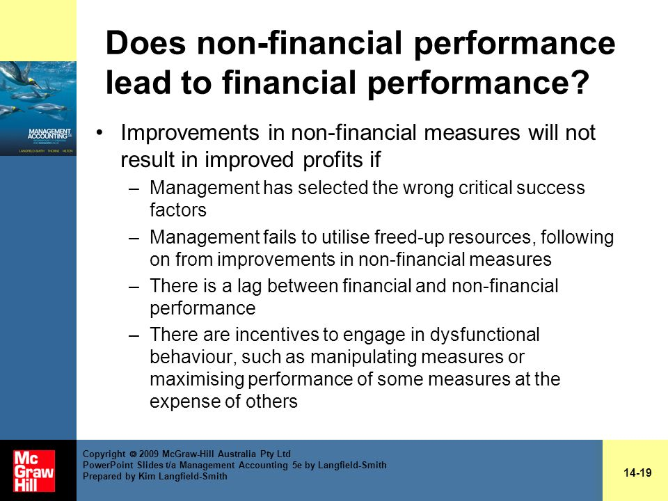 Does non-financial performance lead to financial performance