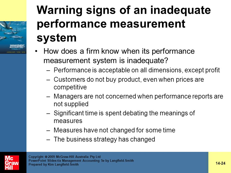 Warning signs of an inadequate performance measurement system