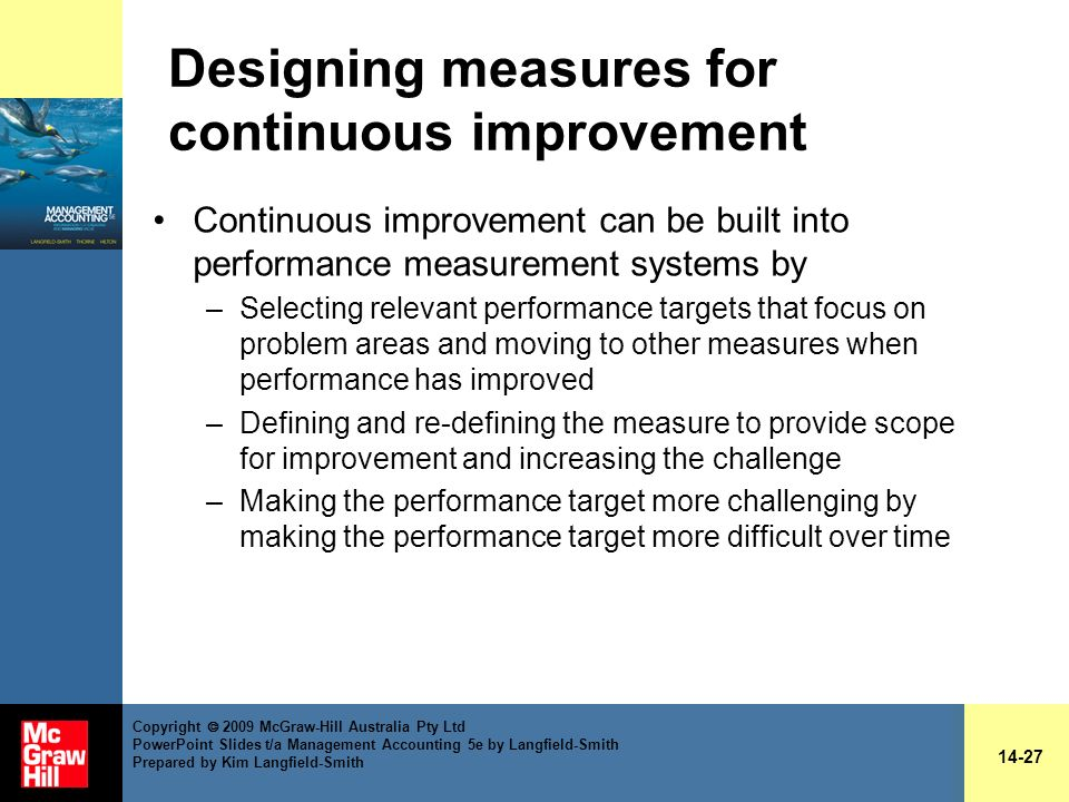Designing measures for continuous improvement