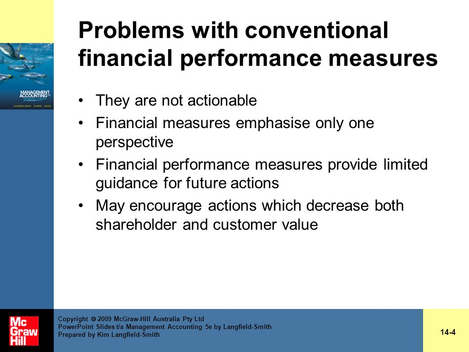 Problems with conventional financial performance measures