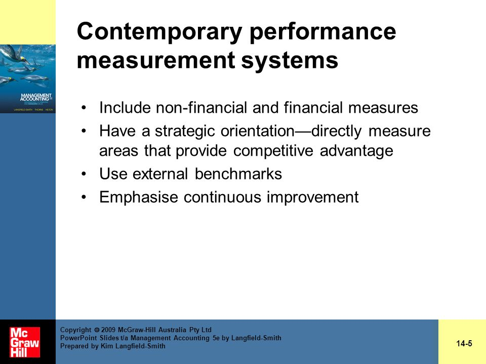 Contemporary performance measurement systems