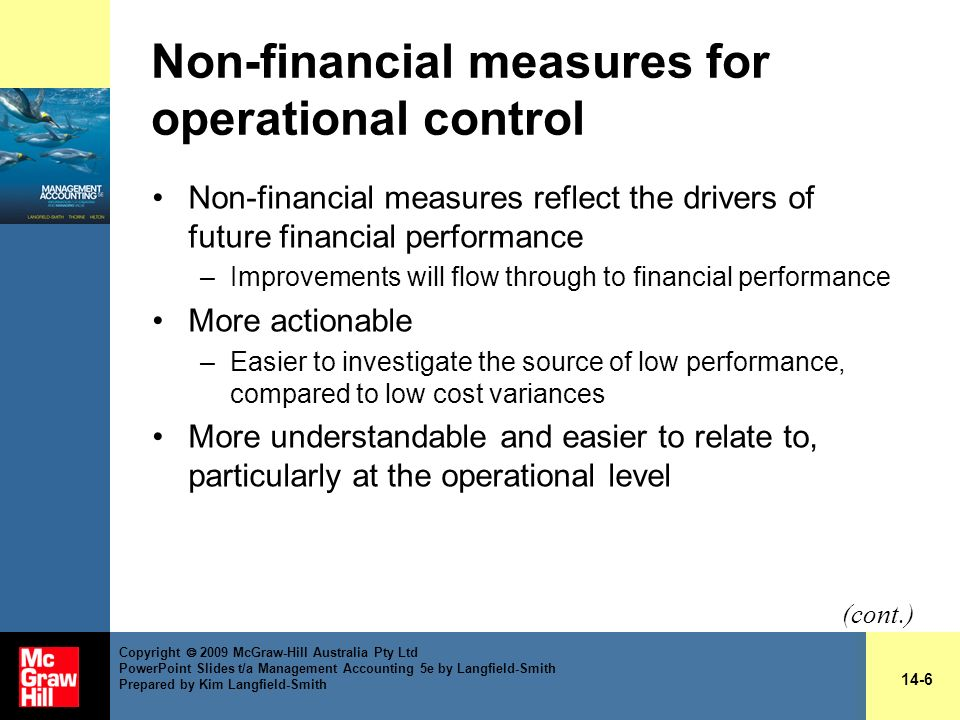 Non-financial measures for operational control