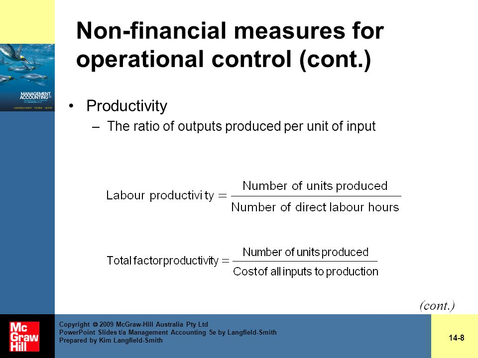 Non-financial measures for operational control (cont.)