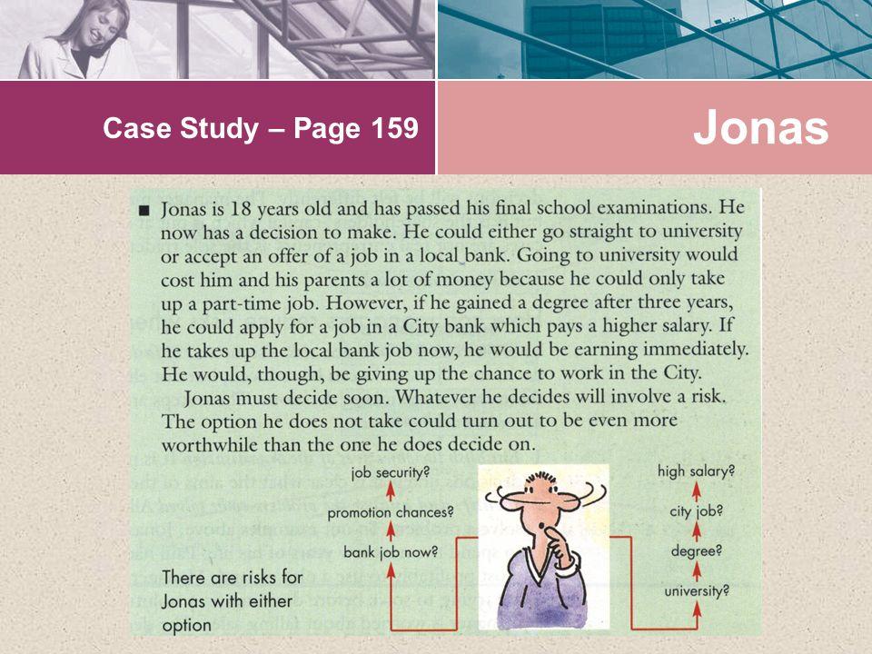 Case Study – Page 159 Jonas