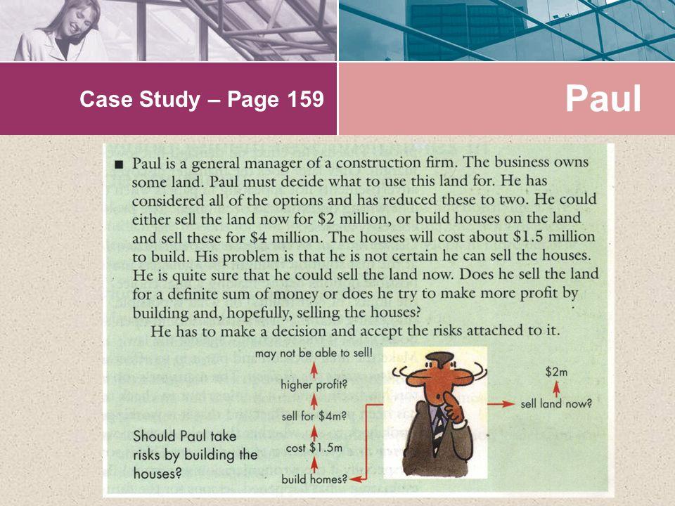Case Study – Page 159 Paul