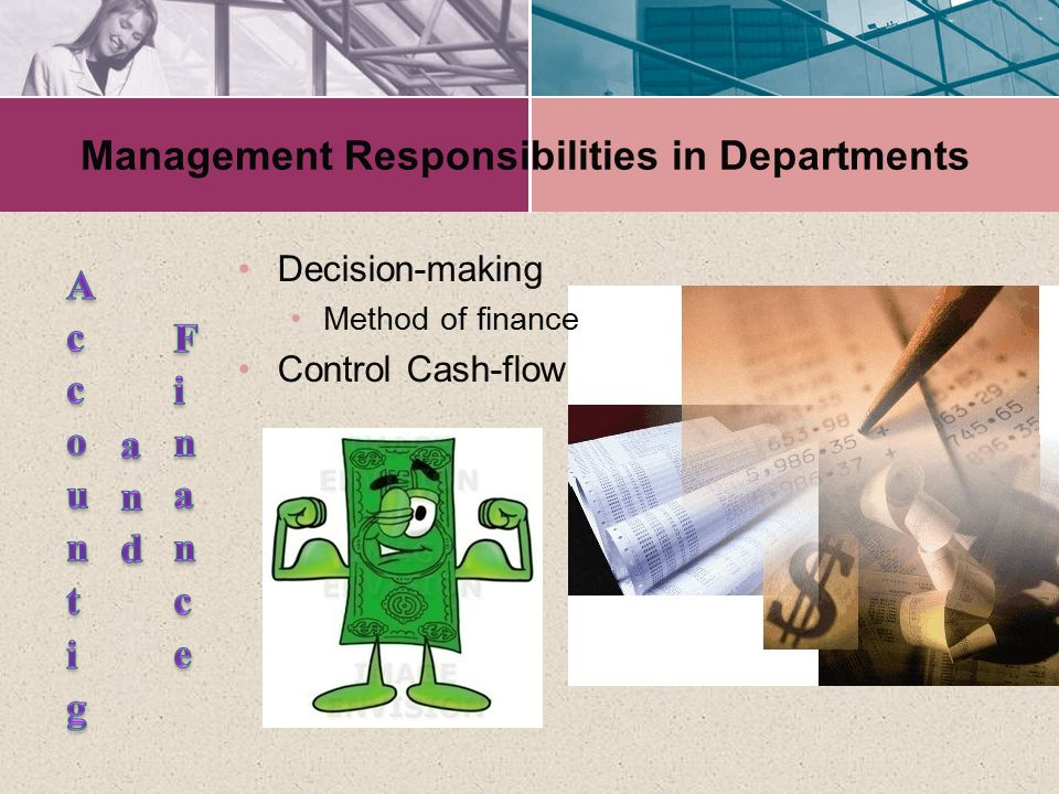Management Responsibilities in Departments
