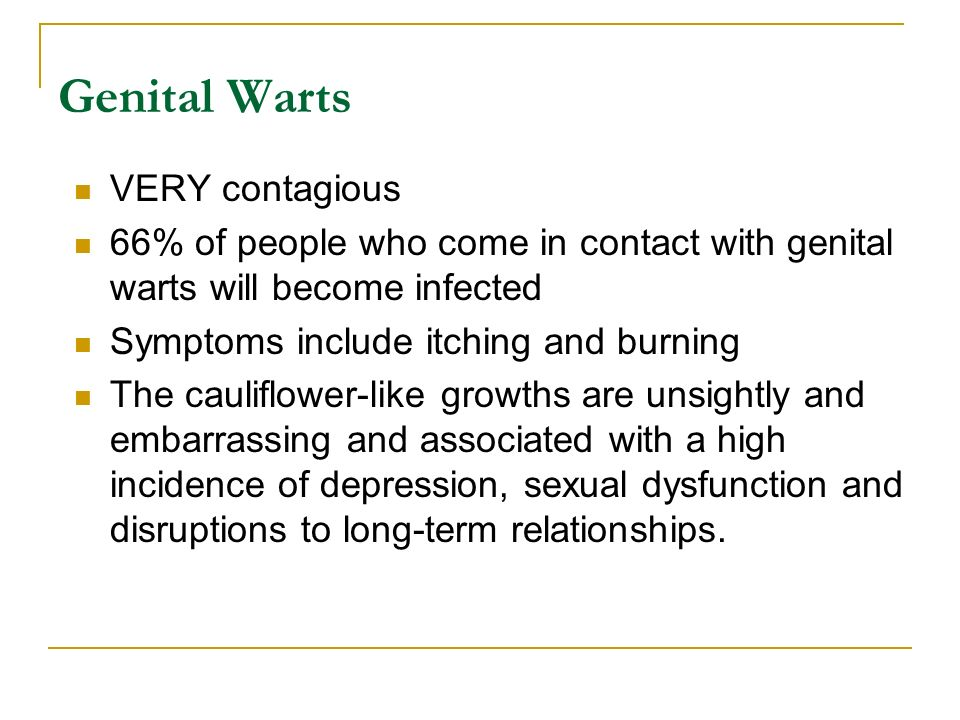 Dating someone with genital warts