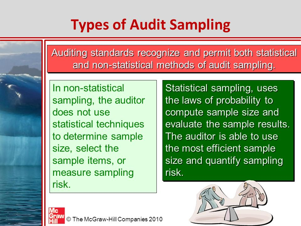 "audit sampling using statistical methods Auditor shall design and perform audit procedures in such a way as to  ""the decision whether to use a statistical or non-statistical sampling."