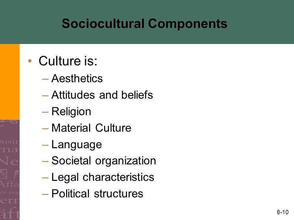 Sociocultural Components