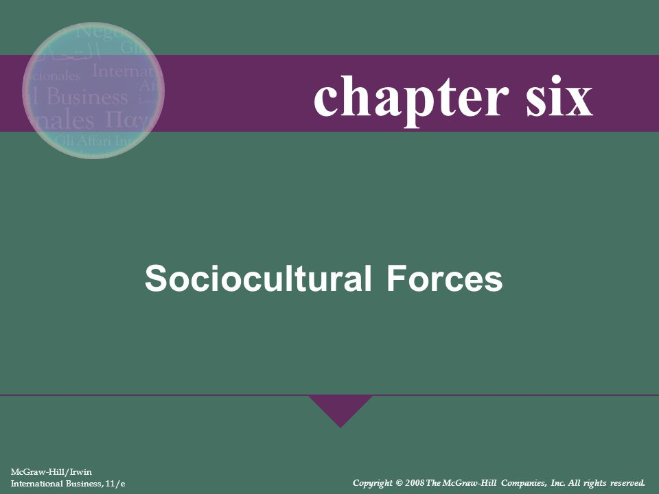 chapter six Sociocultural Forces McGraw-Hill/Irwin