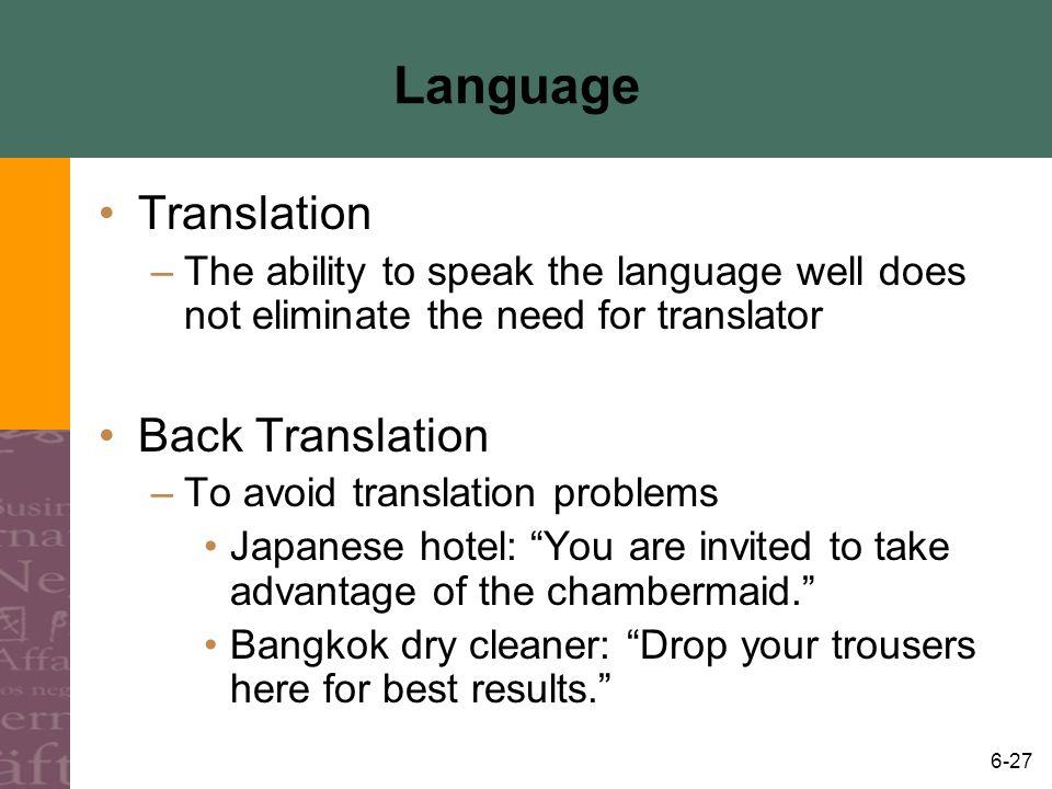 Language Translation Back Translation