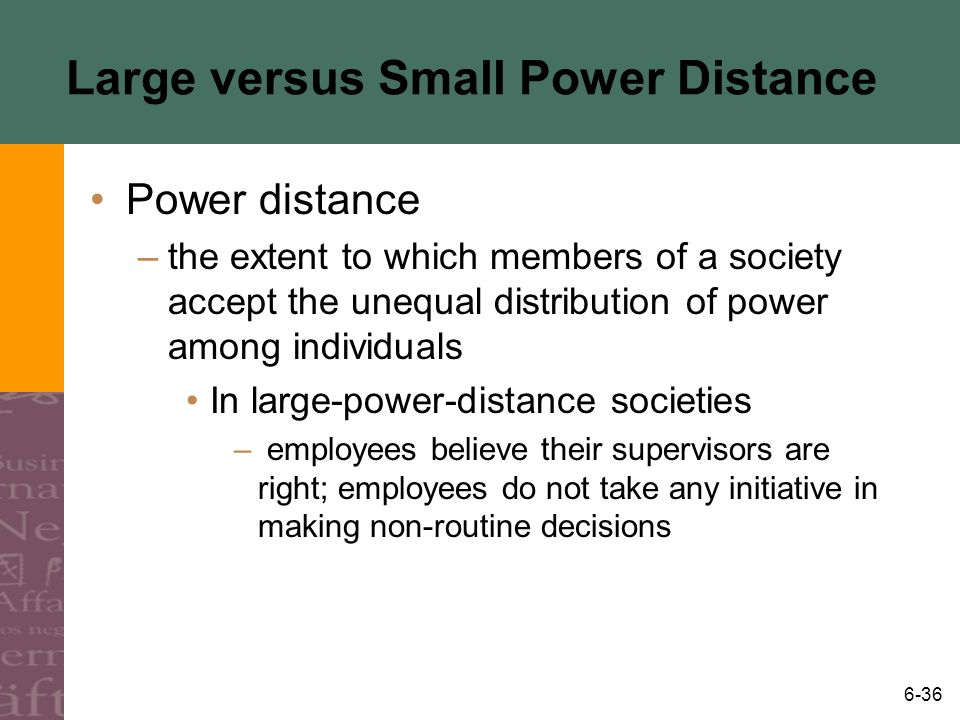 Large versus Small Power Distance