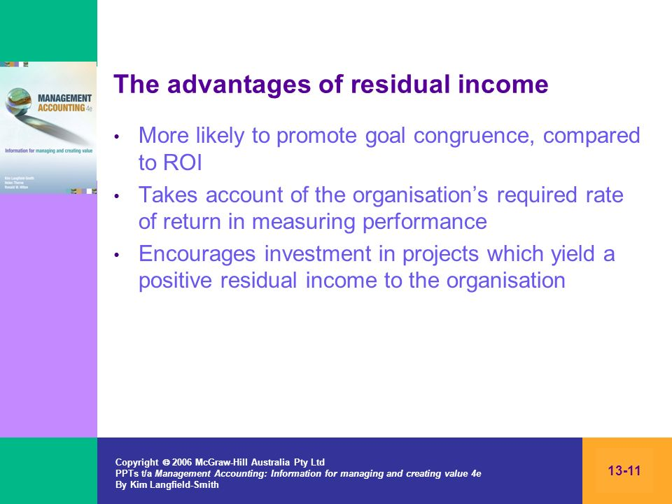 The advantages of residual income