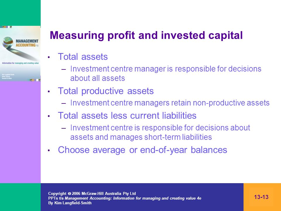 Measuring profit and invested capital