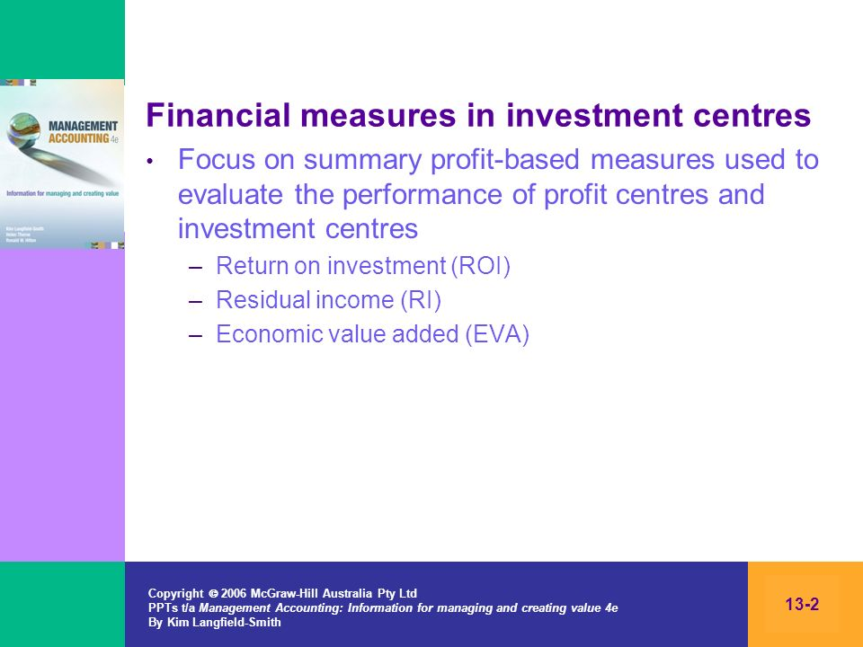 Financial measures in investment centres