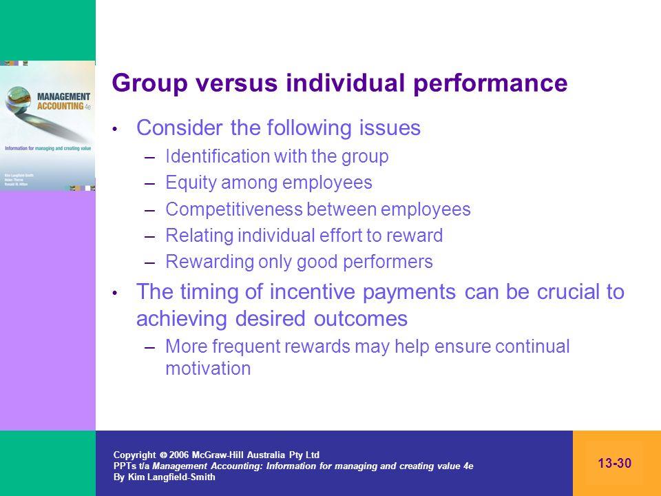 Group versus individual performance