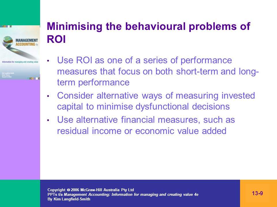Minimising the behavioural problems of ROI