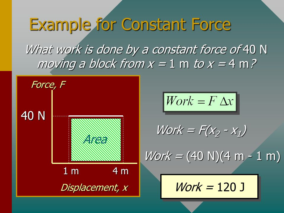 Example for Constant Force